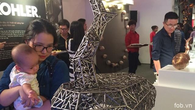 """题为""""多元文化""""的科勒艺术展在越南河内市举行"""