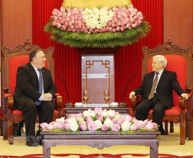 越南党和国家一向重视发展与美国的关系