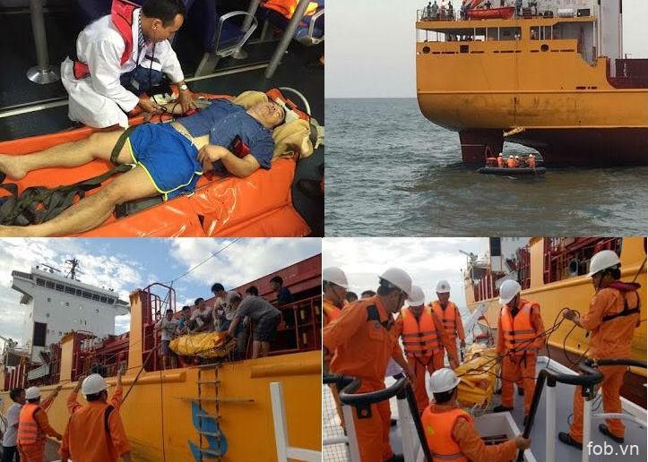 越南成功救助海上突患脑中风的一名中国籍船员