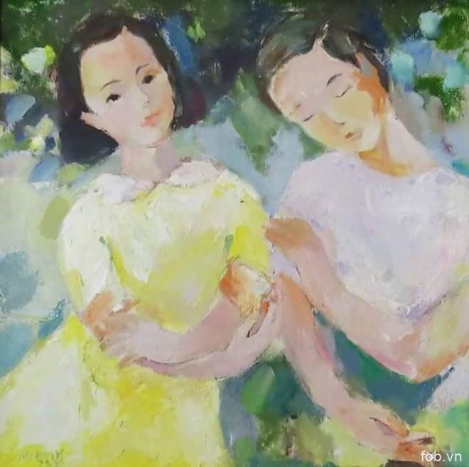 """越南四名青年画家的第二次""""四人画展""""开展"""