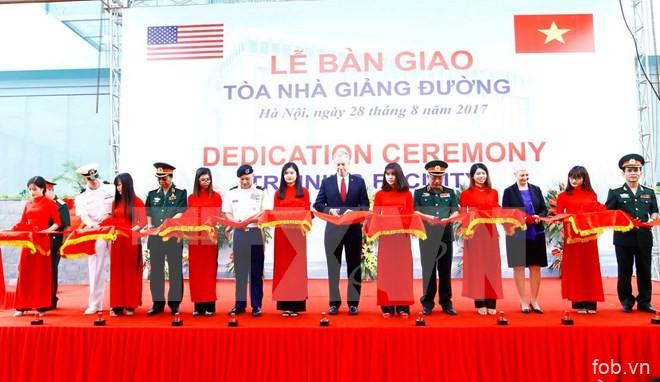 美国为越南援建教学楼 协助提升参与联合国维和行动的部队培训质量
