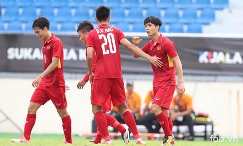 2017年东南亚运动会男足比赛:越南U22队取得开门红