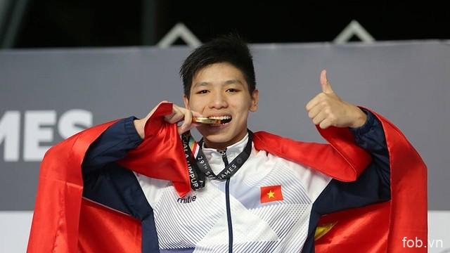 第29届东南亚运动会:越南游泳运动员阮友金山夺金 刷新东运会纪录