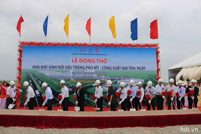 越南首家超白浮法玻璃生产厂在巴地头顿省开工建设