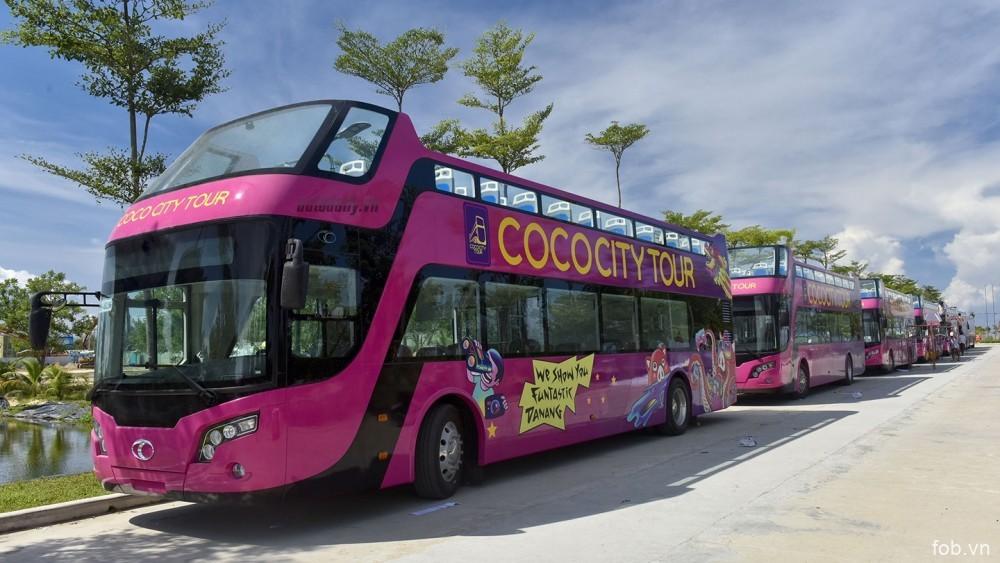 岘港市双层旅游观光巴士路线正式开通