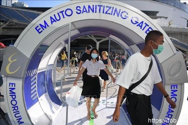 泰国首次布置人员通道自动消毒设备